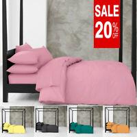 Easy Care Plain Blush Pink Duvet Cover & Pillowcase Quilt Bedding Set All Sizes