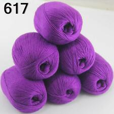 6ballsX50g luxurious Pure 100% Soft Cashmere Hand Knitting Yarn 617 Royal Purple