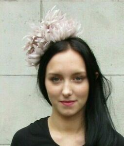 Nude Beige Flower Fascinator Headpiece Headband Races Wedding Hair Band 7308