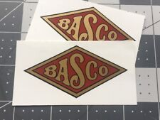 Briggs & Stratton BASCO Antique Engine, Radio decal Red And Metallic Gold Set 2