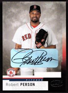 2004 Leaf Autographs #14 ROBERT PERSON Auto - BOSTON RED SOX