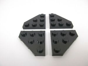 LEGO x4 Black Wedge 2450 Set 6981 6975 6958 7190 9498 9500 6860 75101 6984 6886