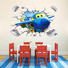 Super Wings Wandtattoo XXL 3D Wandaufkleber Flügel Kinderzimmer Sticker Cars 1