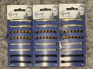 3 packs Goody Classics Barrettes ‑ 24 total #04417