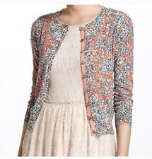 Guinevere Anthropologie Looped Buds Thin Embroidered Cardigan Sweater Size XS