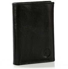 portefeuille homme-femme en cuir noir véritable / cadeau