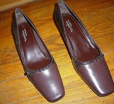 """Women's Easy Spirt Classic Dress Pumps Leather Red Sz 6 1/2M 2"""" Heels Unworn"""