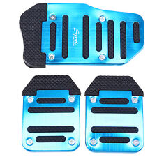 3x Racing Sports Non Slip Manual Car/Truck/SUV Foot Pedals Pad Alloy Cover Blue