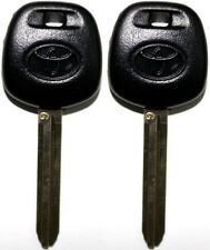 "2 TOYOTA SCION UNCUT IGNITION/DOORS ""G"" STAMP TRANSPONDER CHIPPED LOGO KEY BLANK"