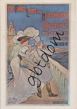 CP Pub Chemin de Fer PLM - repro affiche - Paris Lyons Méditeerranean
