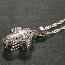 Locket 925 Silver Magnet Cross Pendant Chain Necklace Women Man Jewelry Gift New