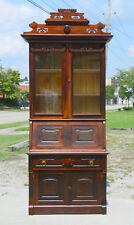 Drop Front Secertary Desk Bookcase~Victorian Walnut