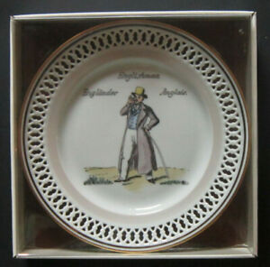 """BING AND GRONDAHL """"Inhabitants of the earth """"The Englishmann"""" In OEM Box Plate 1"""