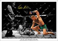 CONOR MCGREGOR SIGNED PRINT POSTER PHOTO UFC 194 MENDES MONTAGE KNOCKOUT