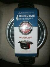 Farberware Neat Nest Space Saving Nonstick Aluminum 4-Piece Red Saucepot Set