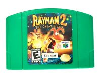AUTHENTIC! Rayman 2 The Great Escape NINTENDO 64 N64 Game - Tested - Working!