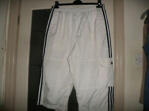 adidas   white cropped trousers L