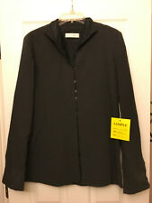 GARFIELD & MARKS Suit Zippered Jacket - Charcoal Gray - Size 8