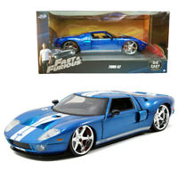 Jada 1:24 Fast & Furious 5 Die-Cast Ford GT Car Blue Model Collection New Gift