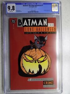BATMAN: THE LONG HALLOWEEN # 1 CGC 9.8 TIM SALE COVER 1ST ALBERTO FALCONE