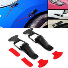 Black Universal Car Bumper Trunk Fender Hatch Lids Quick Release Fastener Kit