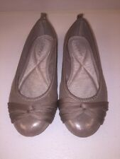 DKNY Taupe Shimmering Flats Shoes sz 8.5 Ballet Style 23332248