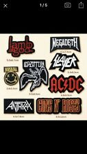 8 Job Lot New HEAVY ROCK BAND Music Iron On Cloth Embroidered Patches