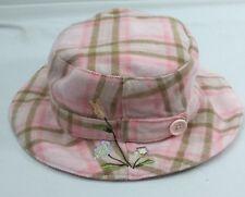 5290508324589 Old Navy Girls 4T 5T Hat Cap Pink Brown Plaid Bucket 2XL 4XL