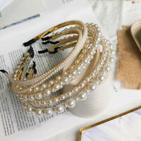 Women Girl Pearl Hairbands Handmade Headband For Wedding&Party Hair Accessories.
