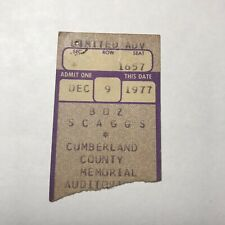 Boz Scaggs Cumberland County Memorial Auditorium Concert Ticket Stub Dec 1977