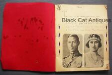 Amazing 1937 King George VI Coronation Scrapbook - Royal Family News Clippings