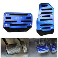 Blue Non-Slip Automatic Car Gas Brake Foot Pedal Pad Cover Accelerator Automatic