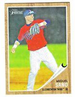 2011 Topps Heritage Minors #64 MIGUEL SANO RC Rookie Minnesota Twins