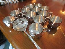SILVERPLATE PUNCH BOWL, 12 MUGS AND A SHEFFIELD LADDLE
