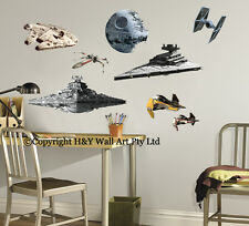 Star Wars Aircraft Destoryer Death Stars Wall Sticker Kids Boys Decal Art Mural