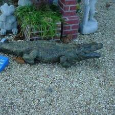 Life Like Alligator Detailed Painted Concrete Statue 4 foot Long