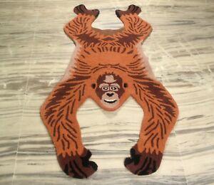 Hand Tufted Chimpanzee Skin Wool Carpet Cotton Backing Anti Slip Rug Gift 3x5 Ft