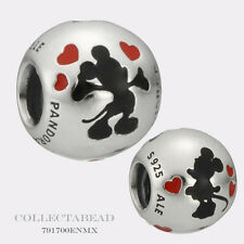 Authentic Pandora Silver Disney Enamel Minnie & Mickey Bead 791700ENMX