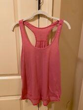 Women's Lululemon Athletic Pink Tank Top Keyhole Design on Back Large