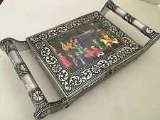 Meenakari Trinket Dry Fruit Box, Jewelry Box and tray Handmade