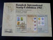 Singapore M/S Stamp  - 1983 BANGKOK INTERNATIONAL STAMP EXHIBITION