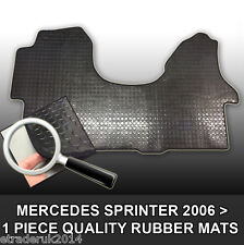 Mercedes Merc Sprinter Van Rubber Floor Mat Mats Black Front 06> HEAVY DUTY