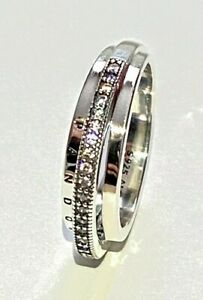 PANDORA TRIPLE BAND Pavé Ring ,  S925 ALE,ALL SIZES, STERLING SILVER