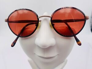 Vintage Swiss Army Brown Bronze Metal Oval Sunglasses Switzerland FRAMES ONLY