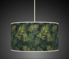 TROPICAL PALM LEAVES GREEN HANDMADE LAMPSHADE CEILING LIGHT LIGHT TABLE 922