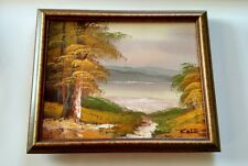 """COLE ~ framed oil paintings on canvas ~ 9"""" x 11"""""""