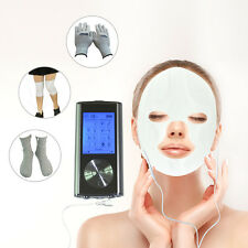 8 Modes Electrode Pulse Massager Therapy Tens + Foot Hand Knee Face Massage Accs