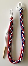 Shoulder Cord Citation With Brass Tip - Red, White and Blue
