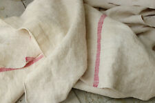 New listing Tablecloth Antique French Linen Red Striped Long Vandage Cloth Table Runner