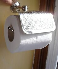 Moroccan silver colour hand ENGRAVED wall mounted toilet roll holder